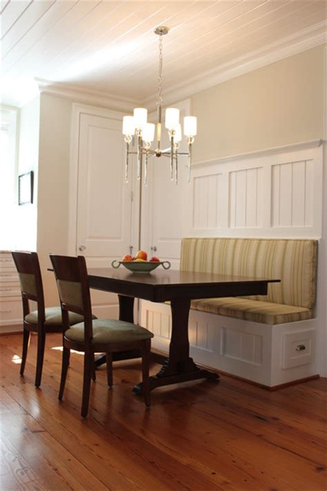 Kitchen Banquette Traditional Kitchen Raleigh By Abode Interiors