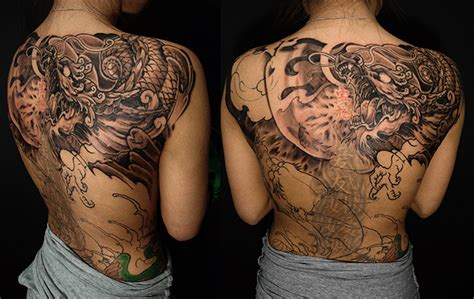 cover up dragon tattoo designs back cover up chronic ink