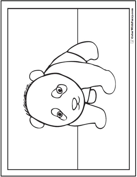 baby pandas colouring pages sketch coloring page
