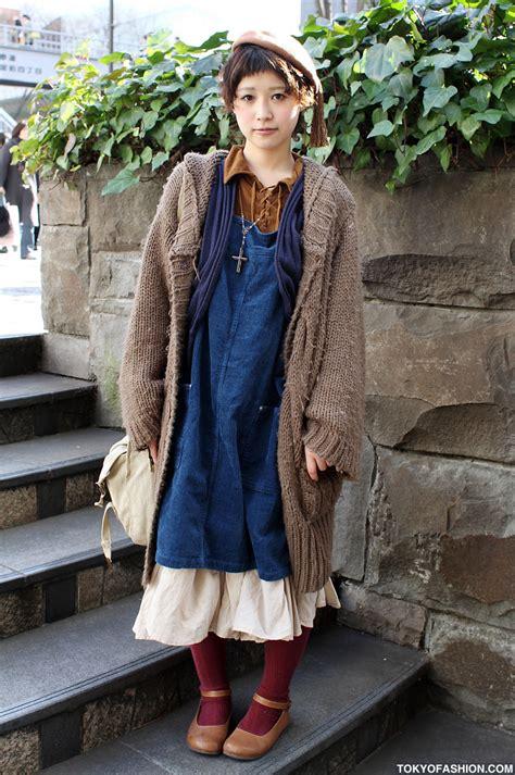 vintage japanese fashion in harajuku
