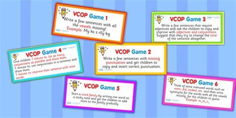printable vcop games 1000 images about vcop big writing on pinterest