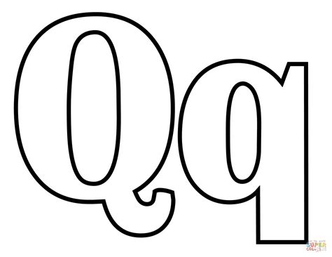 Printable Letter Q Coloring Pages by Classic Letter Q Coloring Page Free Printable Coloring Pages
