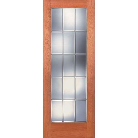 feather river doors 30 in x 80 in privacy smooth 1 lite feather river doors 30 in x 80 in 15 lite unfinished