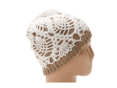 knitted skull cap betsey johnson white knit skull cap lyst