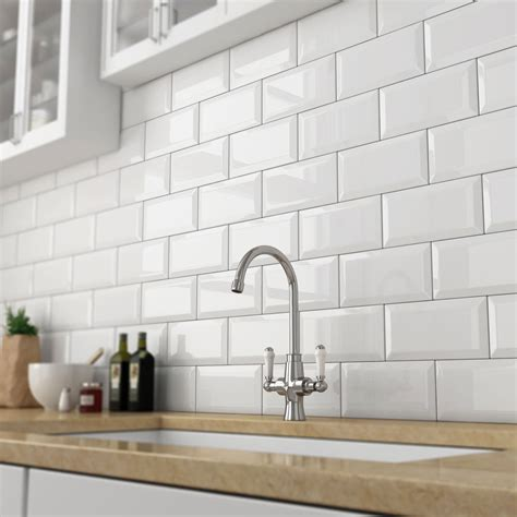 New Yorker Kitchen Cabinets by White Metro Tiles Buy Metro Gloss White Tiles Victorian