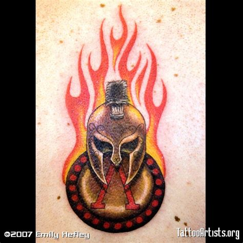 spartan shield tattoo spartan helmet and burning shield tattoomagz
