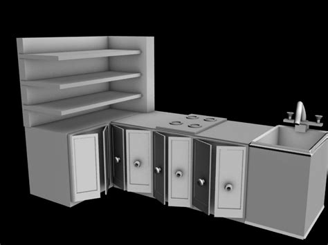 kitchen platform kitchen platform free 3d model max cgtrader