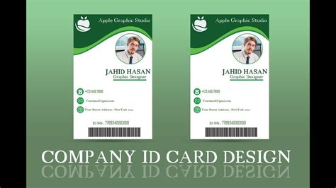 id card design photoshop tutorials company id card design tutorial ii photoshop cc 2018 youtube