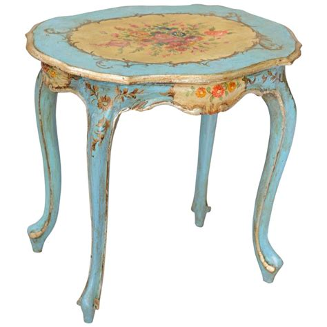 hand painted accent table hand painted venetian accent table at 1stdibs