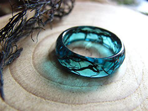 Ring Jewellery by Mermaid Ring Resin Ring Nature Ring Mermaid Jewelry