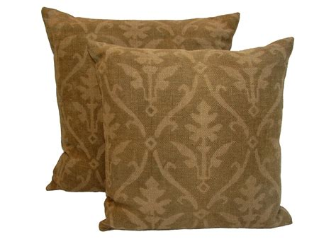 Burlap Pillows by Large Printed Burlap Pillows Set Of Two Omero Home