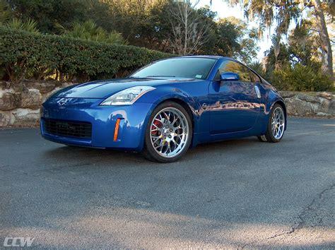 Blue Nissan 350z by Blue Metallic Nissan 350z Ccw Sp20a Forged Wheels