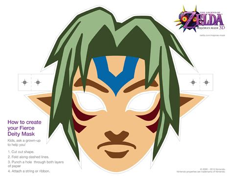 link majora s mask card template the legend of fierce deity mask www pixshark