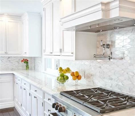 marble backsplash kitchen delighful white kitchen marble backsplash for design