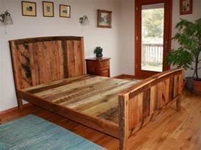 Barn Wood Bed Frame Cozy Country Bedframe From Wormy Chestnut And Reclaimed Oak