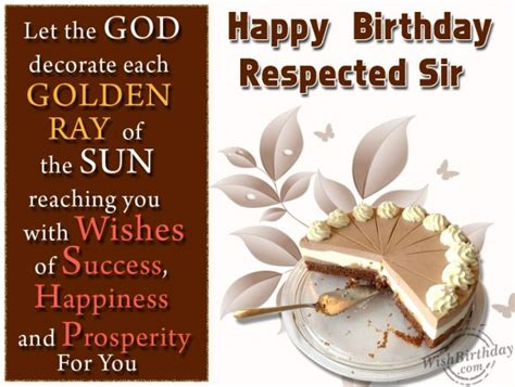 Happy Birthday Wishes For Respected Person Happy Birthday Respected Sir Wishbirthday Com