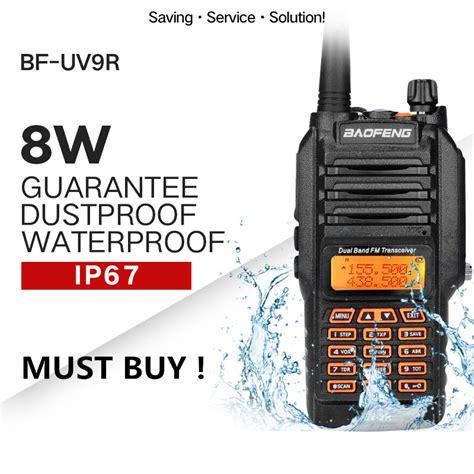 Boafeng Bf 9r baofeng uv 9r walkie talkie ip67 waterproof dual band 136 174 400 520mhz ham radio 8w 10km range
