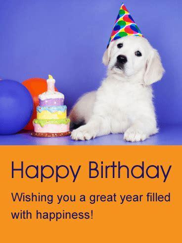wishing you a great year animal birthday card birthday