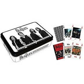 Musicians Friend Gift Card - hal leonard the beatles playing cards 2 deck set gift tin musician s friend