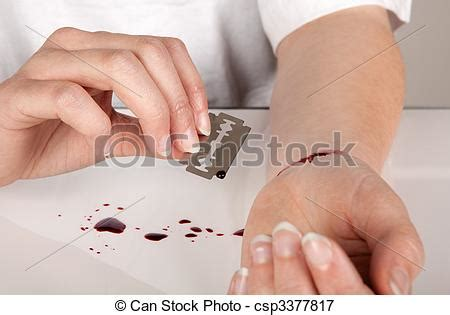 스톡 사진 면도칼, 잎, 자살 스톡 이미지, 이미지, 저작권 구애 받지 않는 사진, 스톡 사진