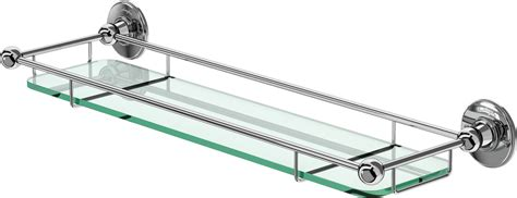 glass shelves for bathrooms burlington bathrooms glass shelf with rail 55cm bathroomand co uk