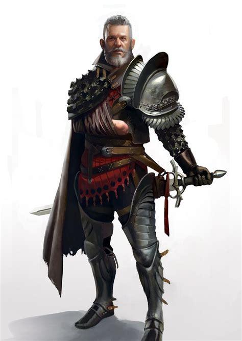 inkertone  arm knight   fantasy character