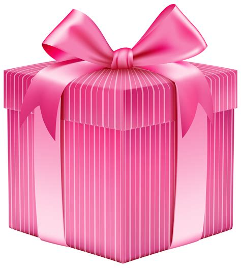 pink gifts pink striped gift box png clipart picture gallery
