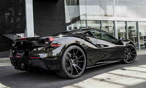 Black Ferrari by Black On Black Ferrari 488 By Forgiato