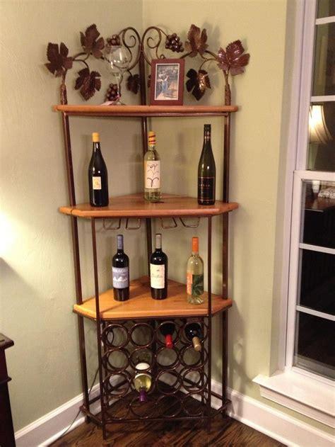 custom corner wine rack projects pinterest corner