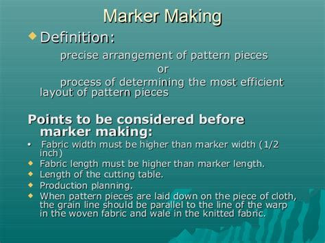 pattern marker definition marker