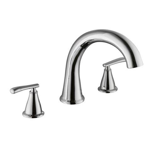 schon zuri 2 handle deck mount tub faucet in chrome