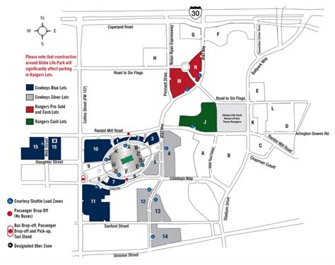 at t stadium map accessible at t stadium parking rs maps rates