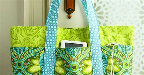 easy tote bag pattern with pockets easy multi pocket tote bag free sewing tutorial sew