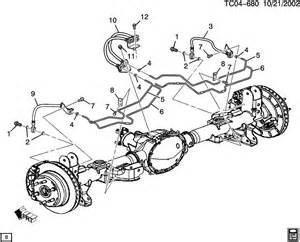 Brake Line Diagram For 2003 Chevy Silverado 2004 Chevrolet Suburban Brake Lines Rear