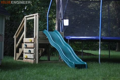 diy backyard slide troline stairs with slide 187 rogue engineer