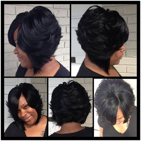 a line feathered bob hairstyles feathered bob hair cut for black woman google search