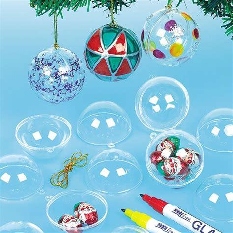 giochi di da decorare palline di natale trasparenti per bambini da decorare
