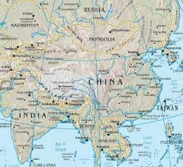 Rivers In China Map by Map Of Rivers In China China Tour Background Information