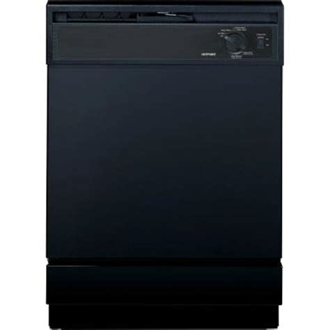 hotpoint front dishwasher in black hda2100vbb