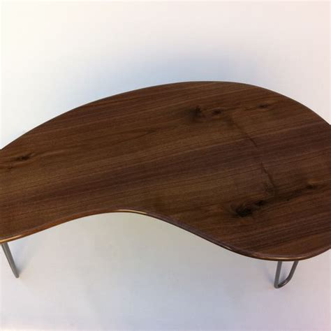 buy a made kidney bean coffee table solid walnut