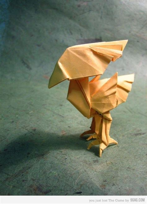 Origami Chocobo - origami chocobo origami papercraft and craft