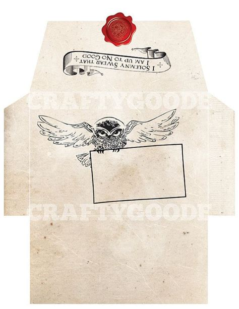 card template hermine harry potter themed envelope diy printable by craftygoode