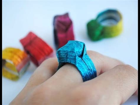 How To Make Rings Out Of Paper - how to make paper ring ring origami paper made