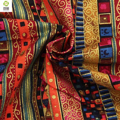Handmade Textile - floral cotton linen vintage fabric diy handmade