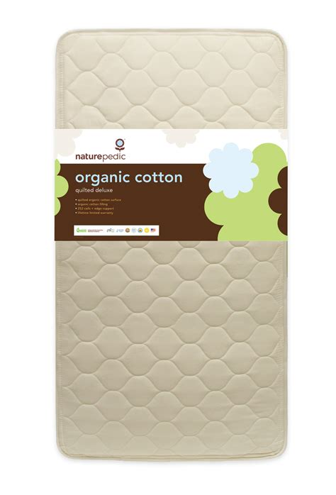 Organic Crib Mattress Reviews naturepedic baby quilted deluxe organic cotton crib mc50