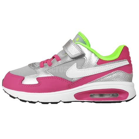 nike air max st psv silver pink velcro white 2015