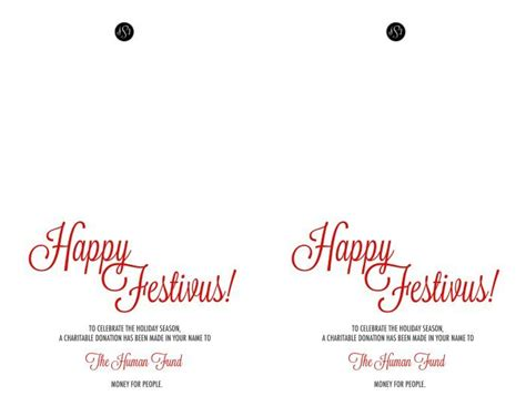 Human Fund Card Template by Happy Festivus Free Festivus Printable Card Bombshell Bling