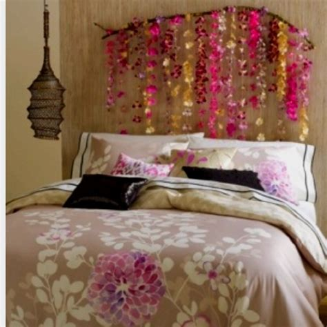 headboard fairy lights love this orchard branch headboard i would add a fairy