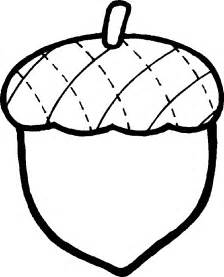 Acorn Drawing Outline by Acorn Pictures Clipart Best