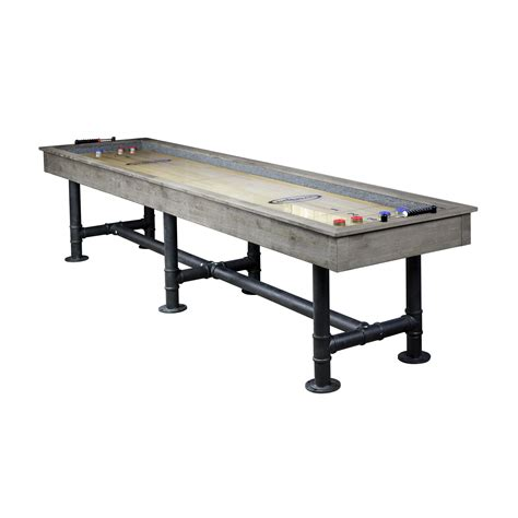 12 ft shuffleboard table bedford 12 ft shuffleboard table silver mist